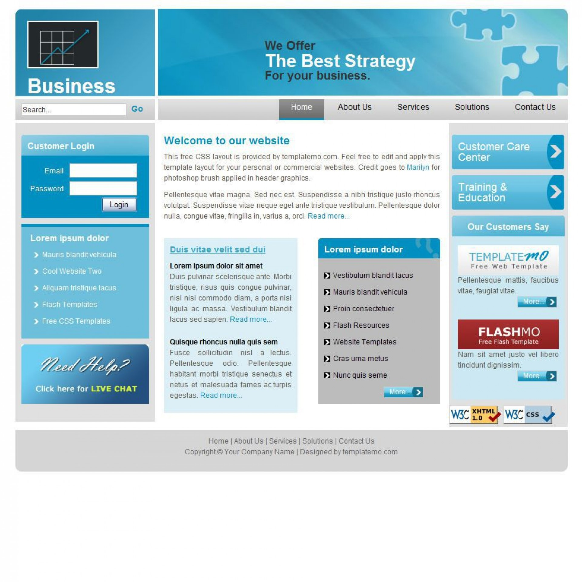 008 Wonderful Busines Html Template Free Download With Cs High Def  Css Responsive Website1920