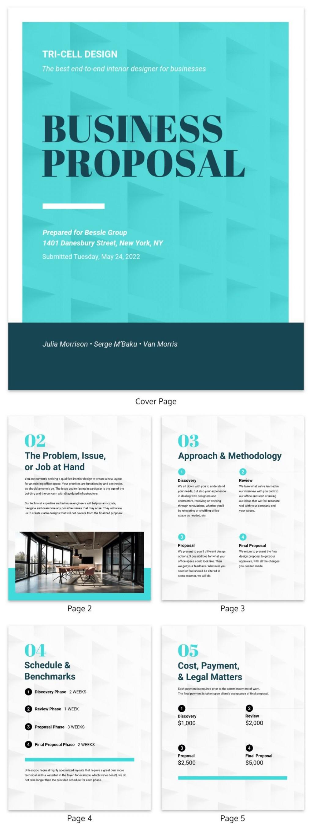 008 Wonderful Busines Proposal Sample Pdf Free Download Concept  ProjectLarge