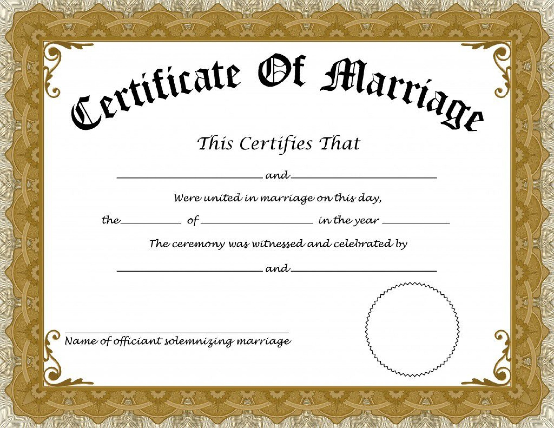 008 Wonderful Certificate Of Marriage Template High Definition  Word Australia1920