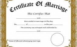 008 Wonderful Certificate Of Marriage Template High Definition  Word Australia