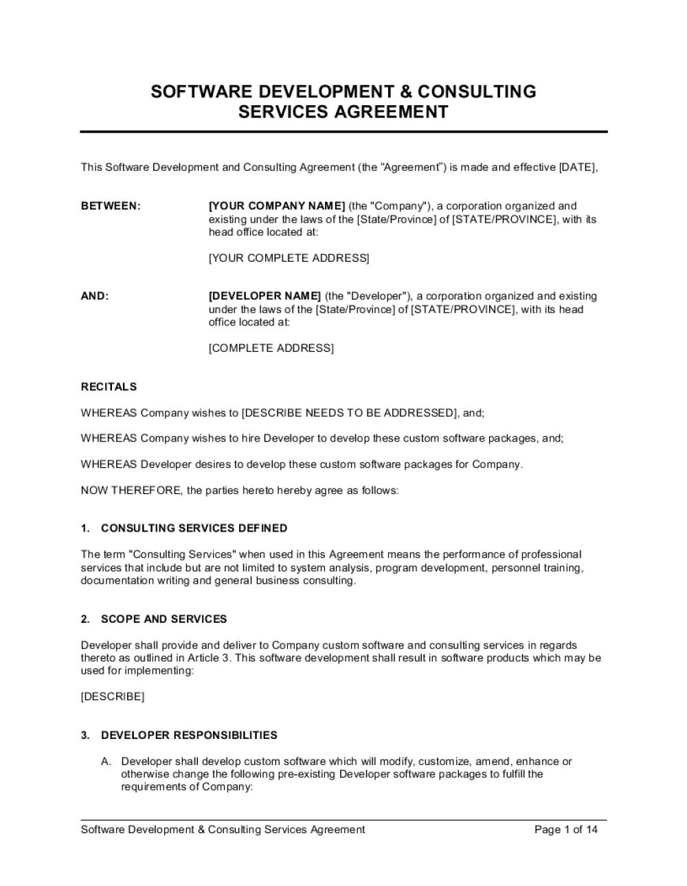 008 Wonderful Consulting Agreement Template Word High Resolution  Sample FreeFull