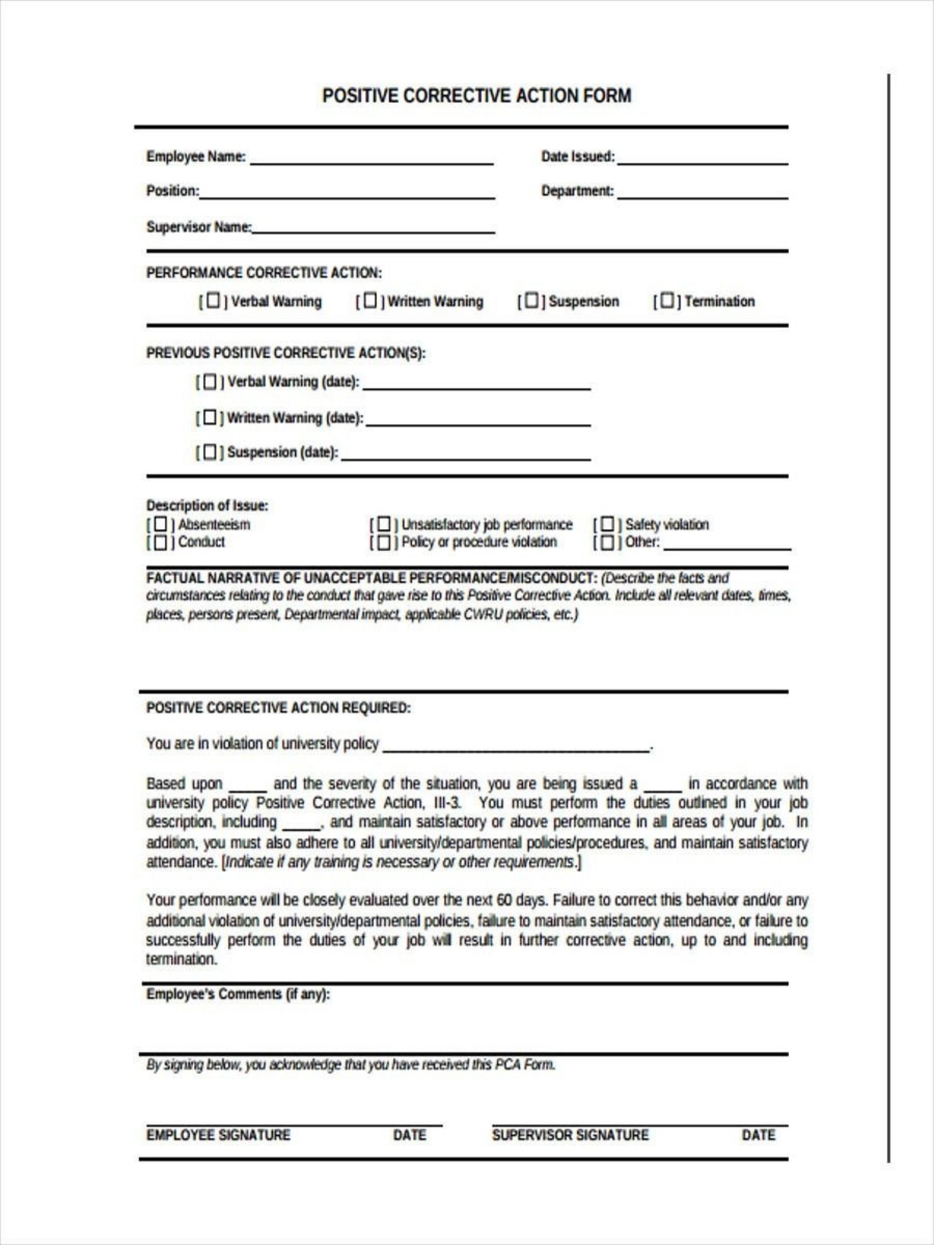 008 Wonderful Corrective Action Report Template Image  Doc 8d Format Pdf1920
