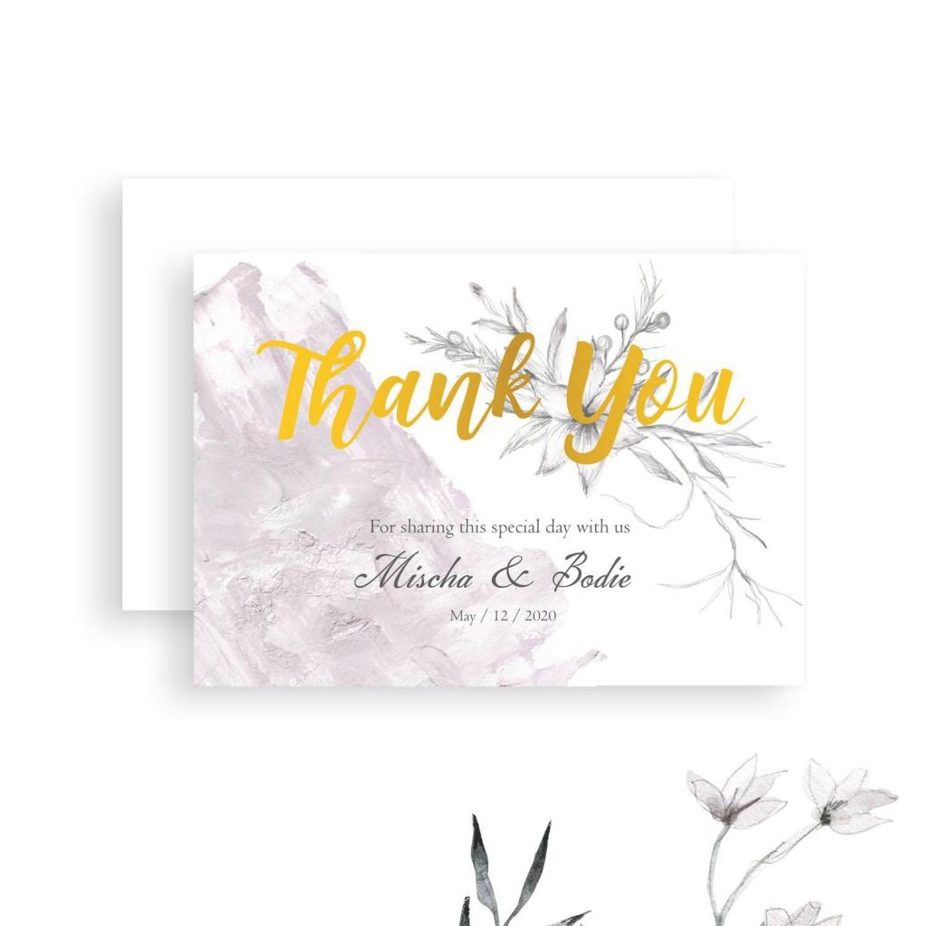 008 Wonderful Diy Wedding Thank You Card Template Example  TemplatesLarge