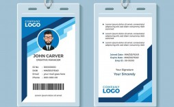 008 Wonderful Employee Id Card Template Picture  Free Download Psd Word