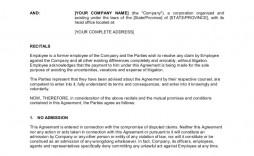 008 Wonderful Employment Separation Agreement Template Inspiration  Nc Shrm Employee Florida