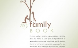 008 Wonderful Family Tree Book Template Word Design  History