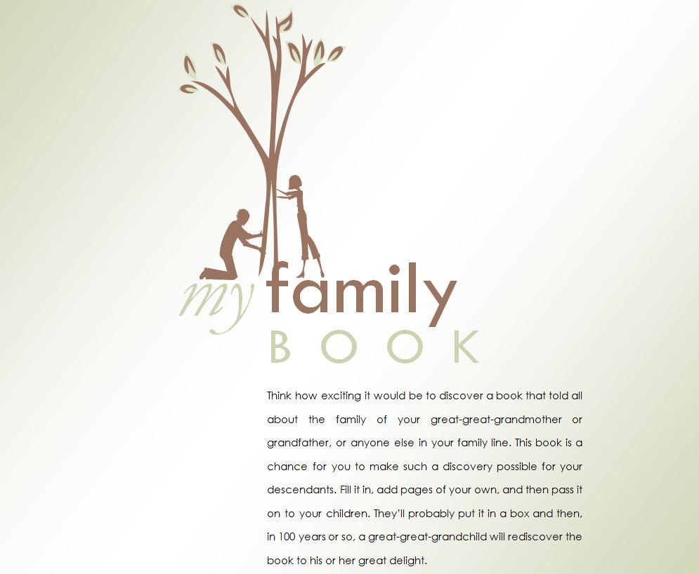 008 Wonderful Family Tree Book Template Word Design  HistoryFull