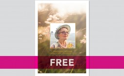 008 Wonderful Free Celebration Of Life Program Template Download Concept