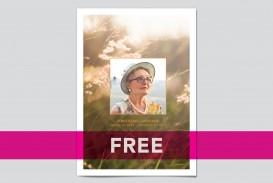 008 Wonderful Free Celebration Of Life Program Template Download Concept