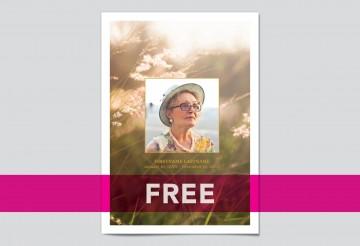 008 Wonderful Free Celebration Of Life Program Template Download Concept 360