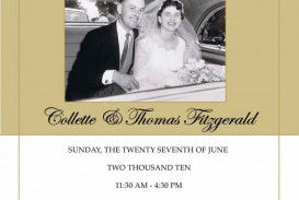 008 Wonderful Free Printable 50th Wedding Anniversary Invitation Template Image