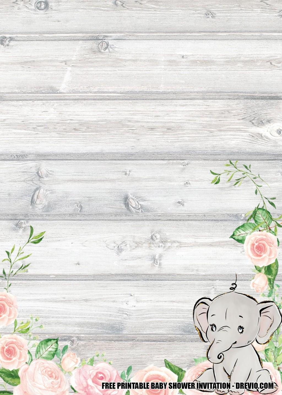 008 Wonderful Free Printable Elephant Baby Shower Invitation Template High Resolution  Templates EditableLarge
