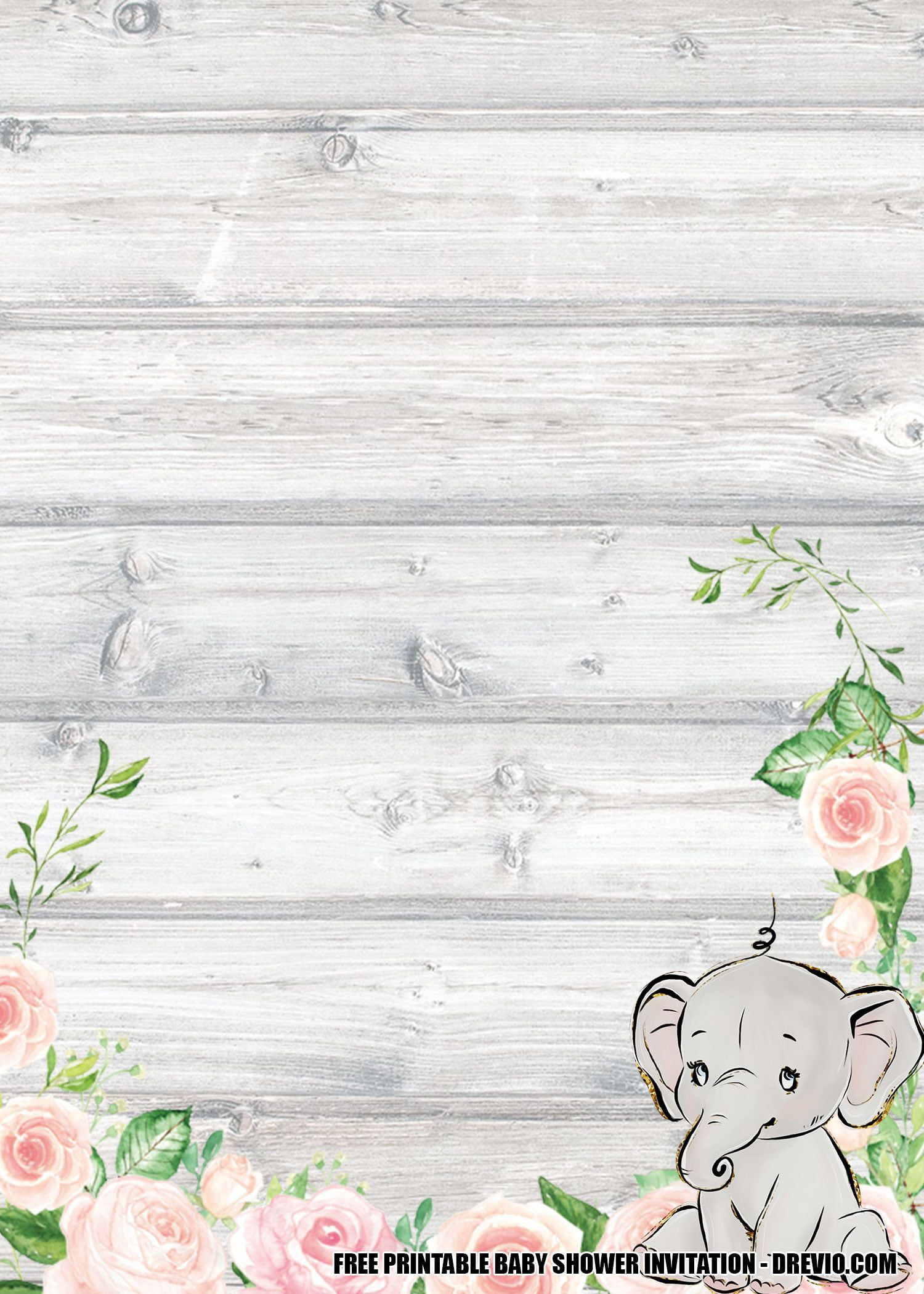 008 Wonderful Free Printable Elephant Baby Shower Invitation Template High Resolution  Templates EditableFull