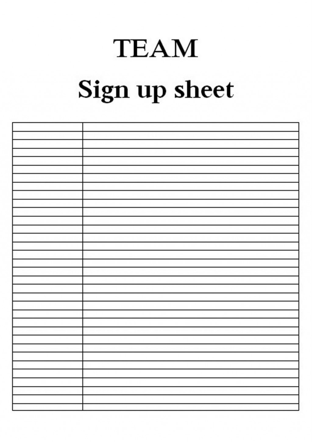 008 Wonderful Free Sign Up Sheet Template High Def  In Word Printable ExcelLarge
