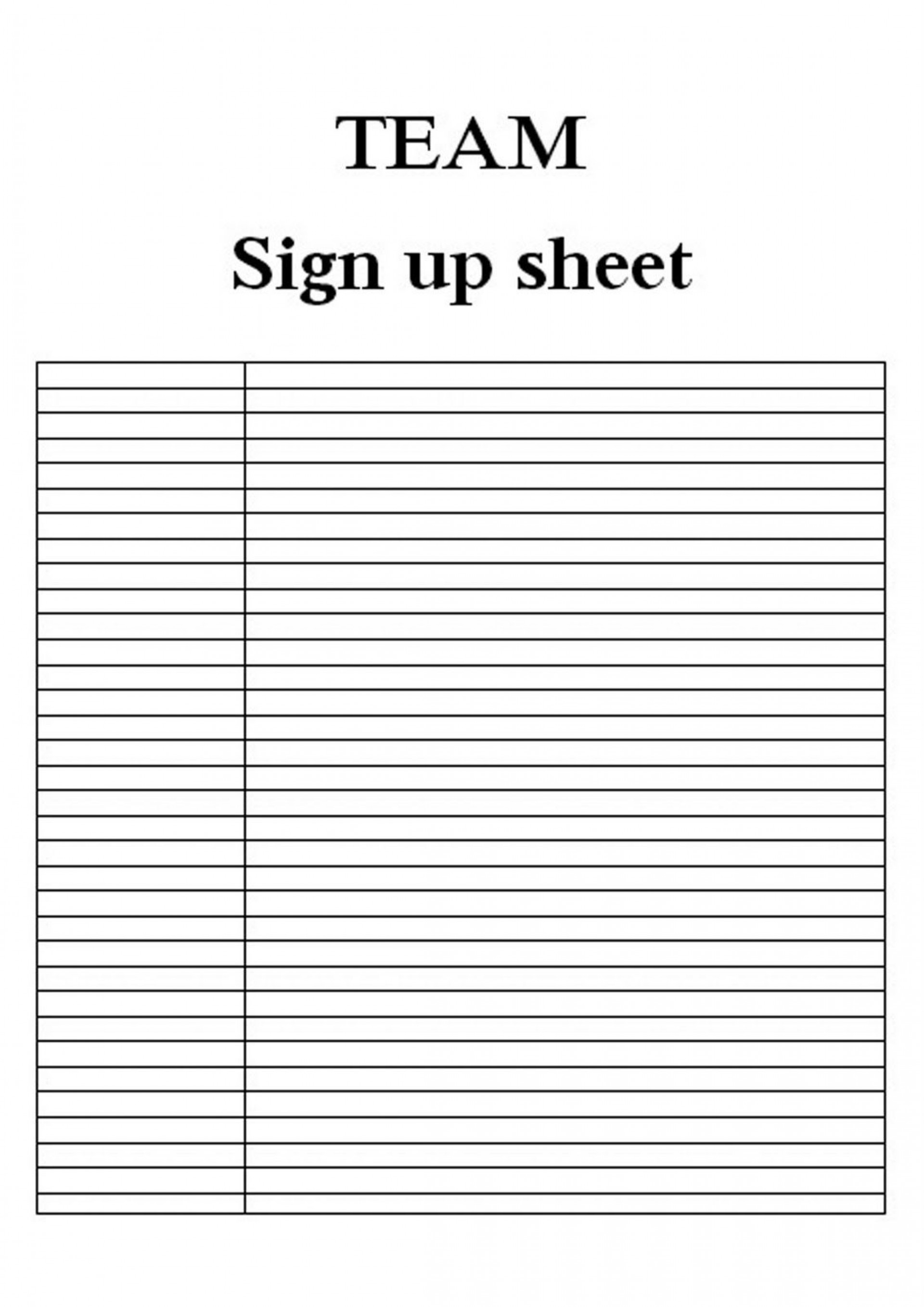 008 Wonderful Free Sign Up Sheet Template High Def  In Word Printable Excel1920