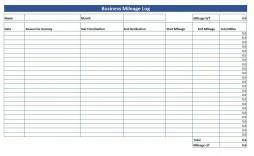 008 Wonderful Mileage Log Printable Template Sample  Book Excel