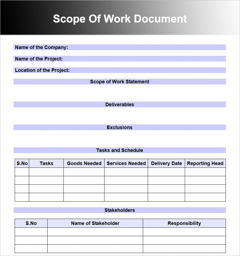 008 Wonderful Scope Of Work Template Word Free High Resolution 960