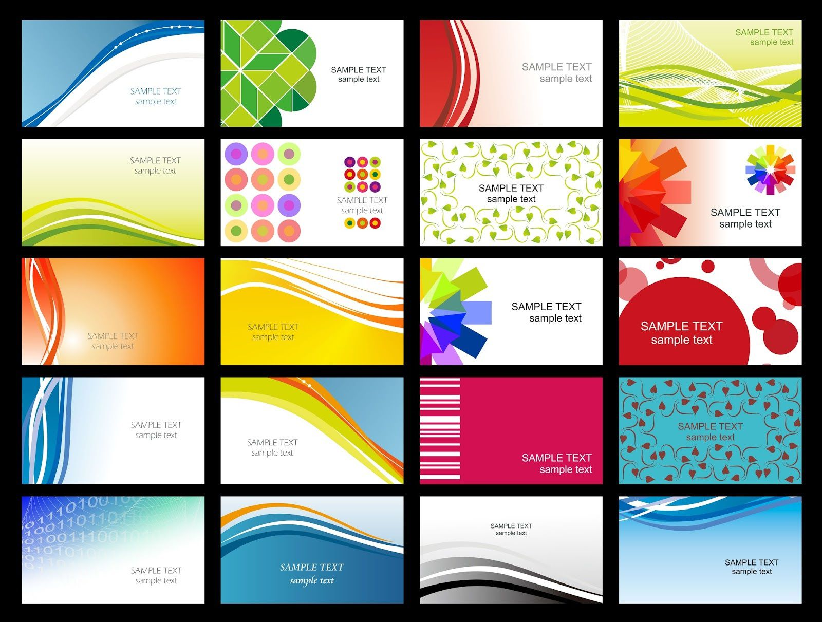 008 Wonderful Simple Busines Card Template Free Download Example  Visiting Design Psd File MinimalistFull