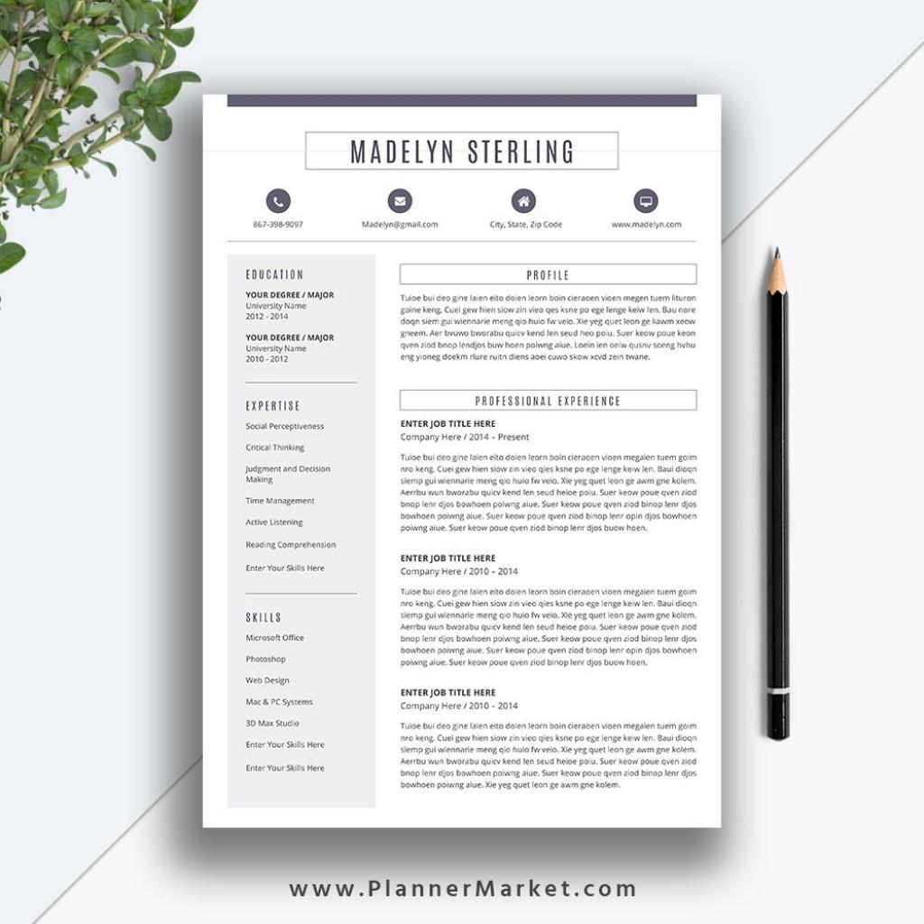 008 Wonderful Word Resume Template 2020 Idea  Microsoft MLarge