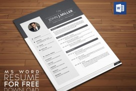 008 Wonderful Word Resume Template Free Download Picture  M Creative Curriculum Vitae Cv
