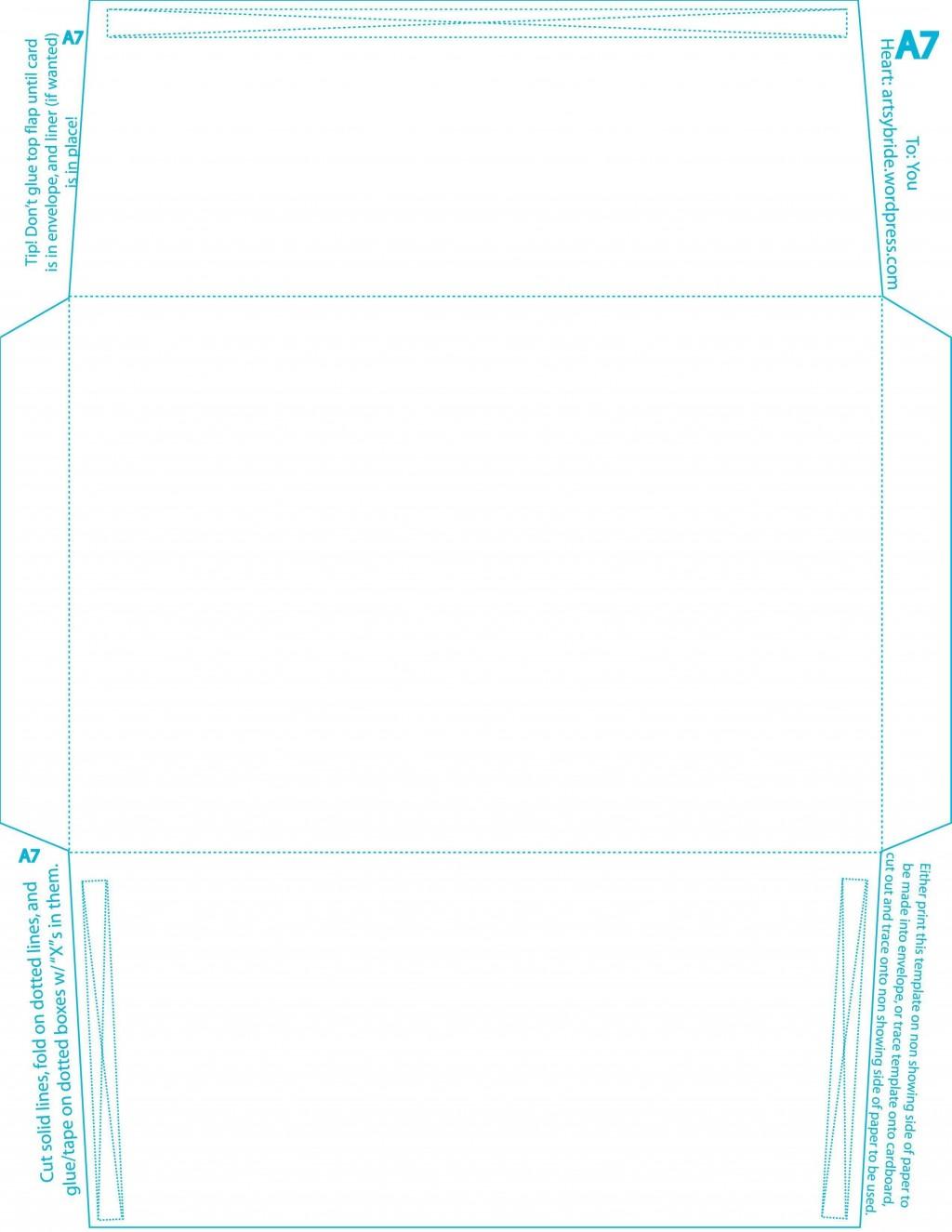 008 Wondrou A7 Envelope Liner Template High Def  Printable Illustrator FreeLarge