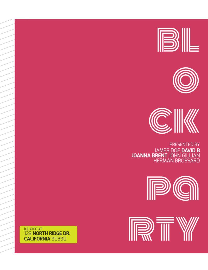 008 Wondrou Block Party Flyer Template Inspiration  Templates FreeFull
