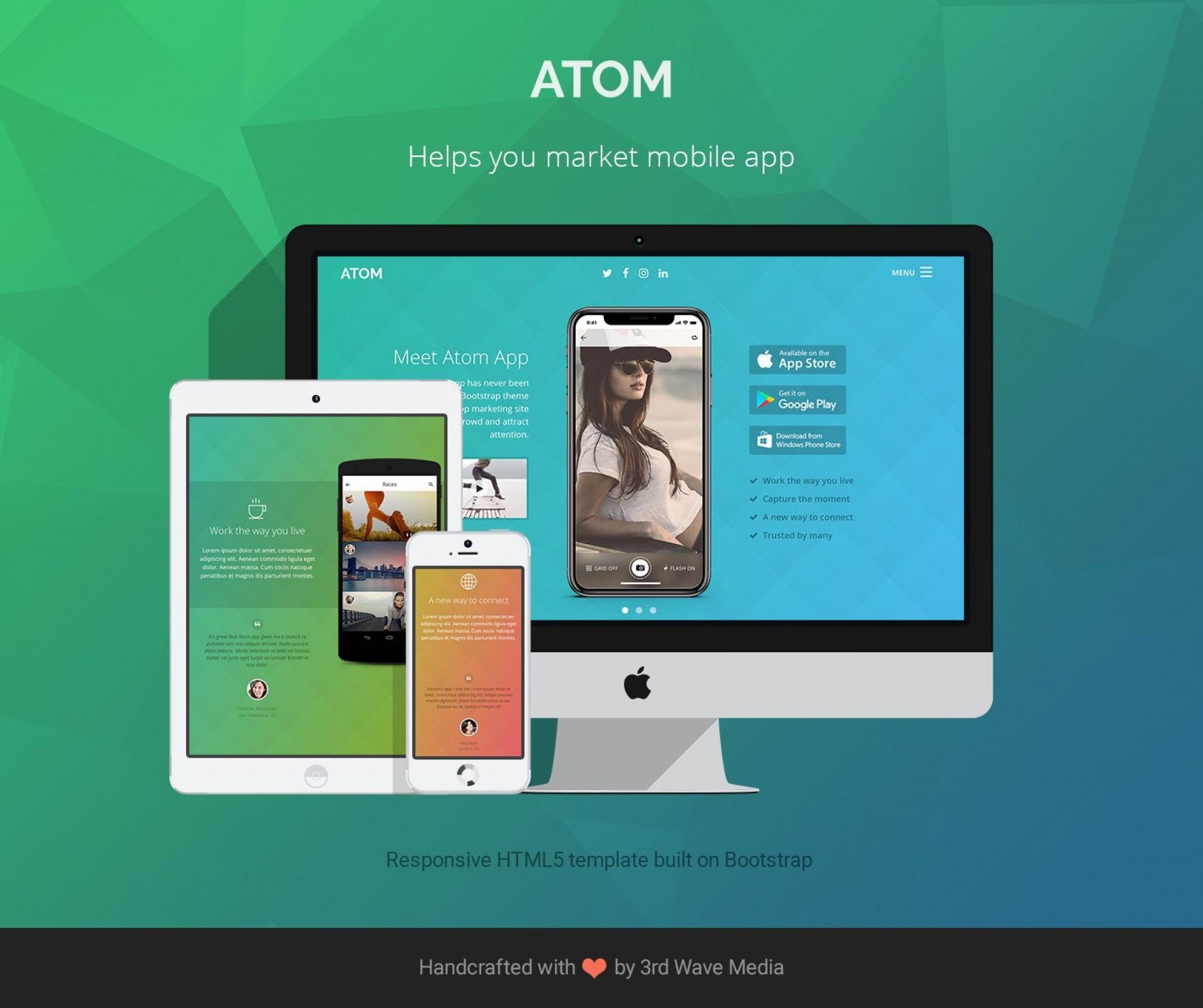 008 Wondrou Bootstrap Mobile App Template Image  Html5 Form 41920