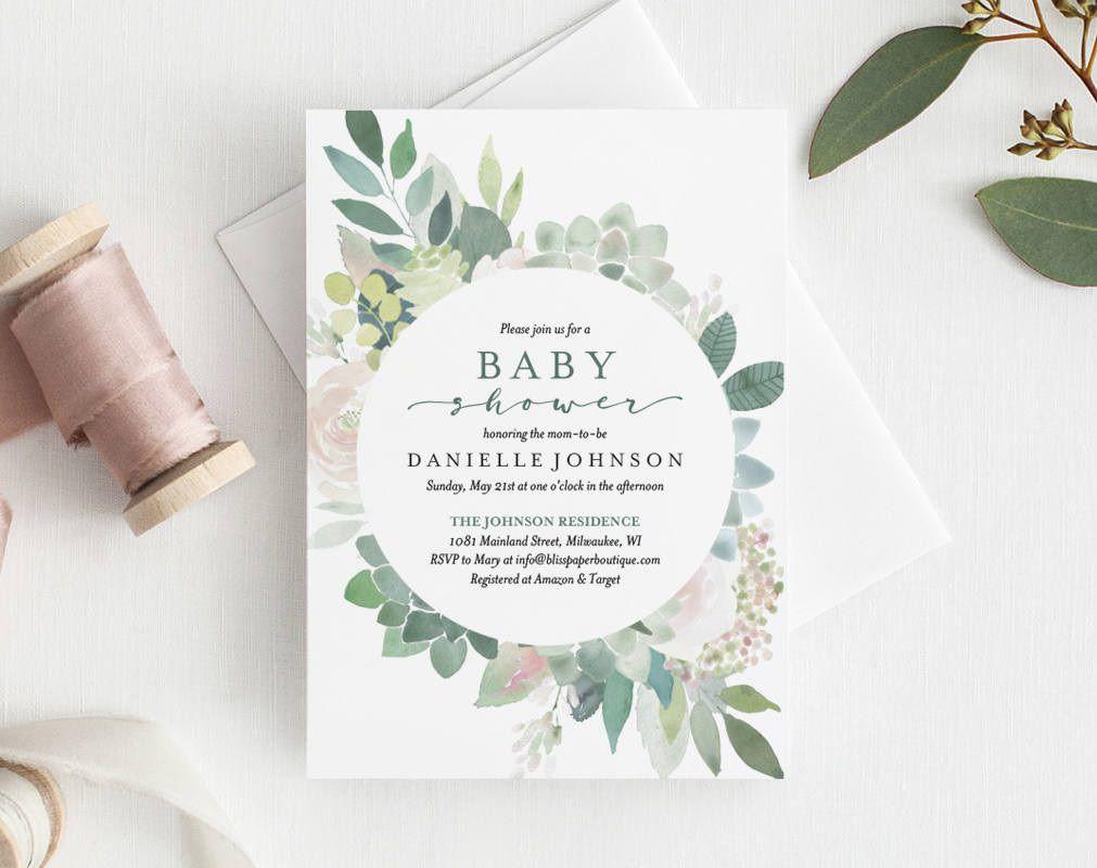 008 Wondrou Diy Baby Shower Invitation Template Highest Clarity  Templates Diaper FreeFull
