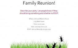 008 Wondrou Family Reunion Flyer Template Free Idea  Downloadable Printable Invitation