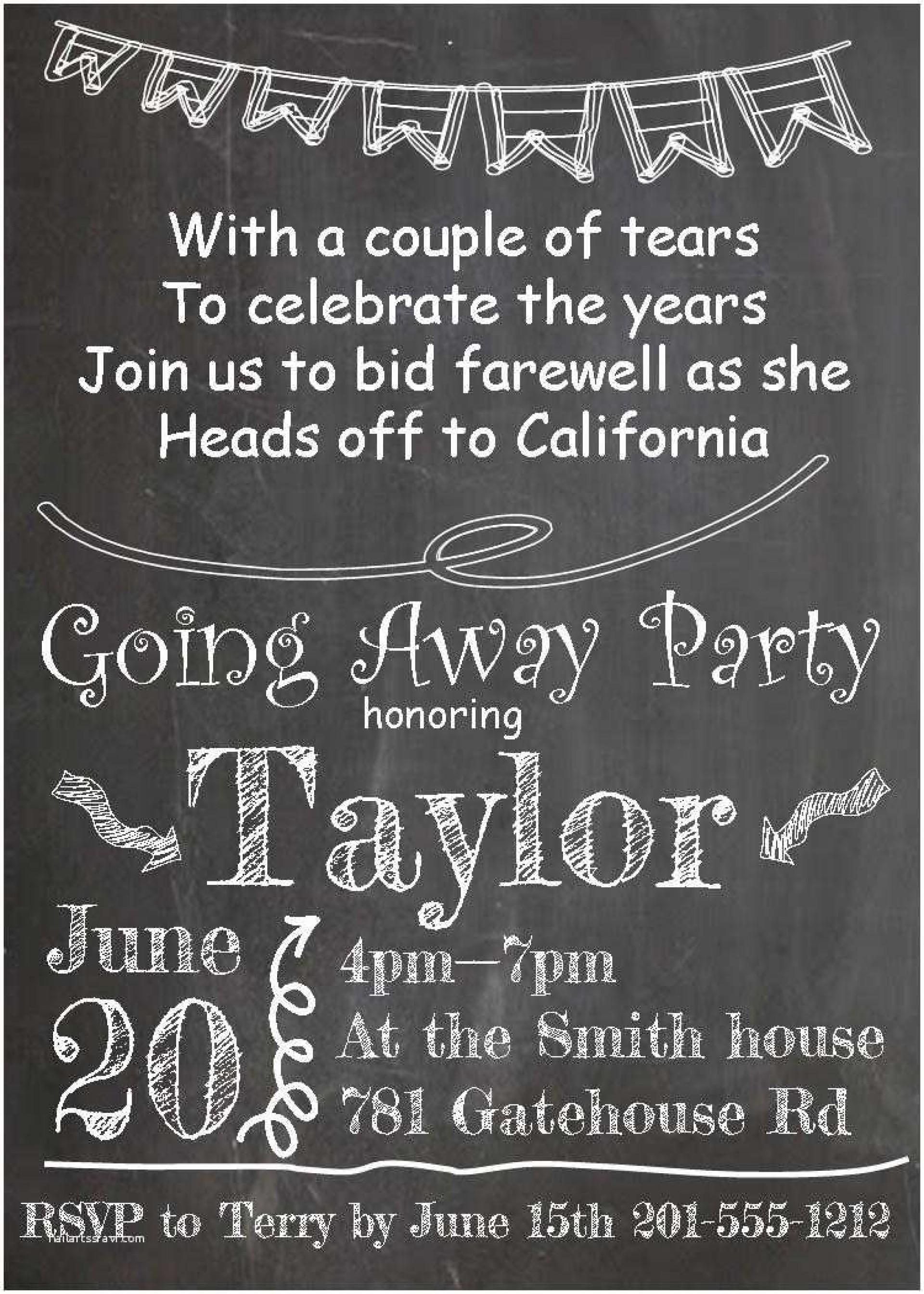 008 Wondrou Farewell Party Invitation Template Free Design  Email Printable Word1920