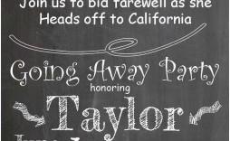 008 Wondrou Farewell Party Invitation Template Free Design  Email Printable Word