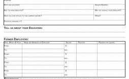 008 Wondrou Free Employment Application Form Inspiration  Printable Pdf Online Blank