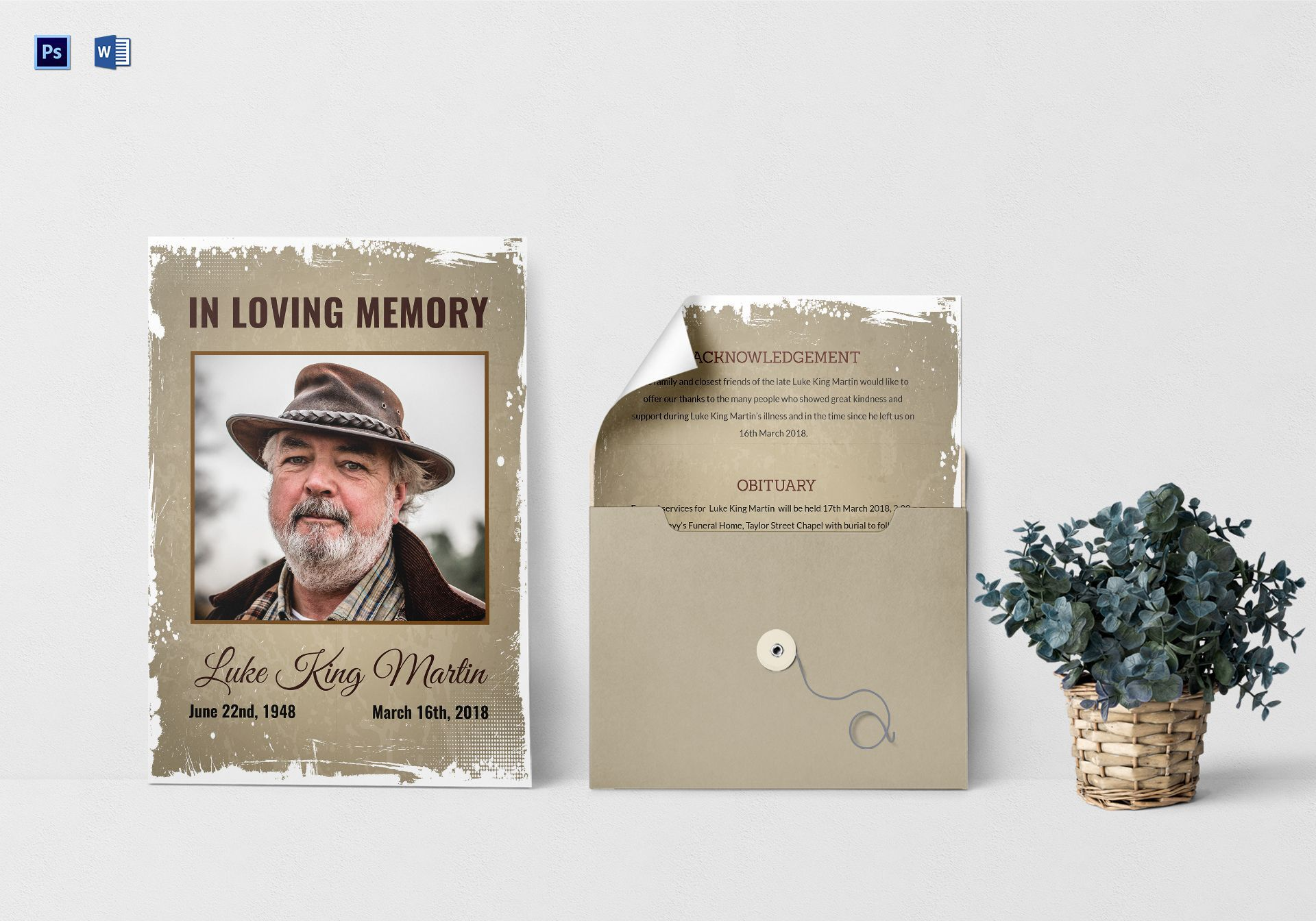 008 Wondrou In Loving Memory Template Word Highest Clarity Full
