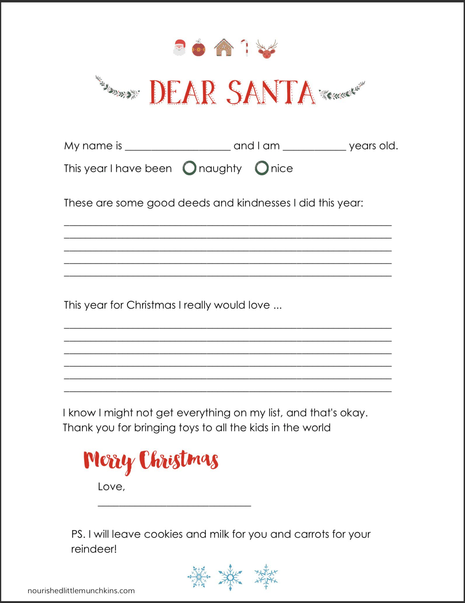 008 Wondrou Letter From Santa Template Example  Free Printable Word Doc UkFull