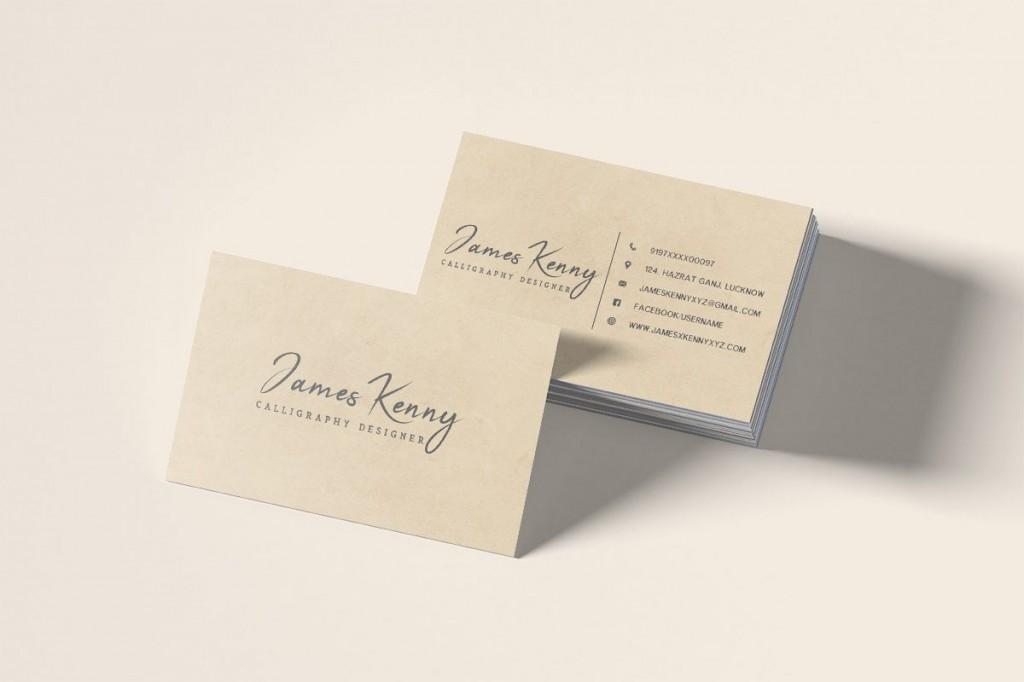 008 Wondrou Minimal Busines Card Template Free Download Design  Simple CoreldrawLarge