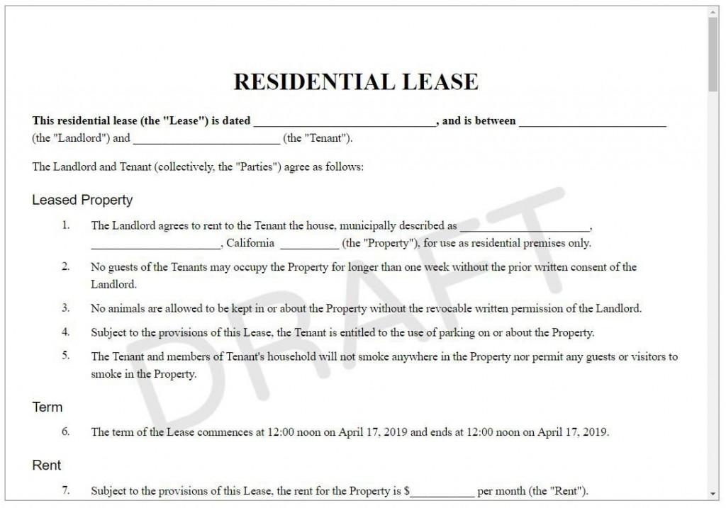 008 Wondrou Rental Lease Template Free Highest Quality  Agreement Sample Download Residential PrintableLarge