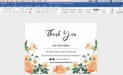 008 Wondrou Thank You Note Card Template Word Concept