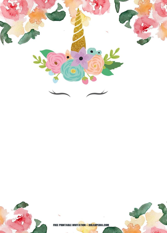 008 Wondrou Unicorn Baby Shower Template Free Download Sample  Printable InvitationLarge