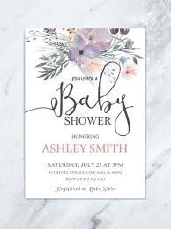 009 Amazing Baby Shower Invitation Girl Purple Design 1920