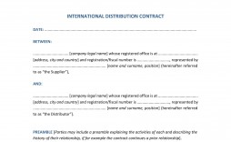 009 Amazing Distribution Agreement Template Word Image  Format Contract