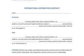 009 Amazing Distribution Agreement Template Word Image  Distributor Exclusive Contract