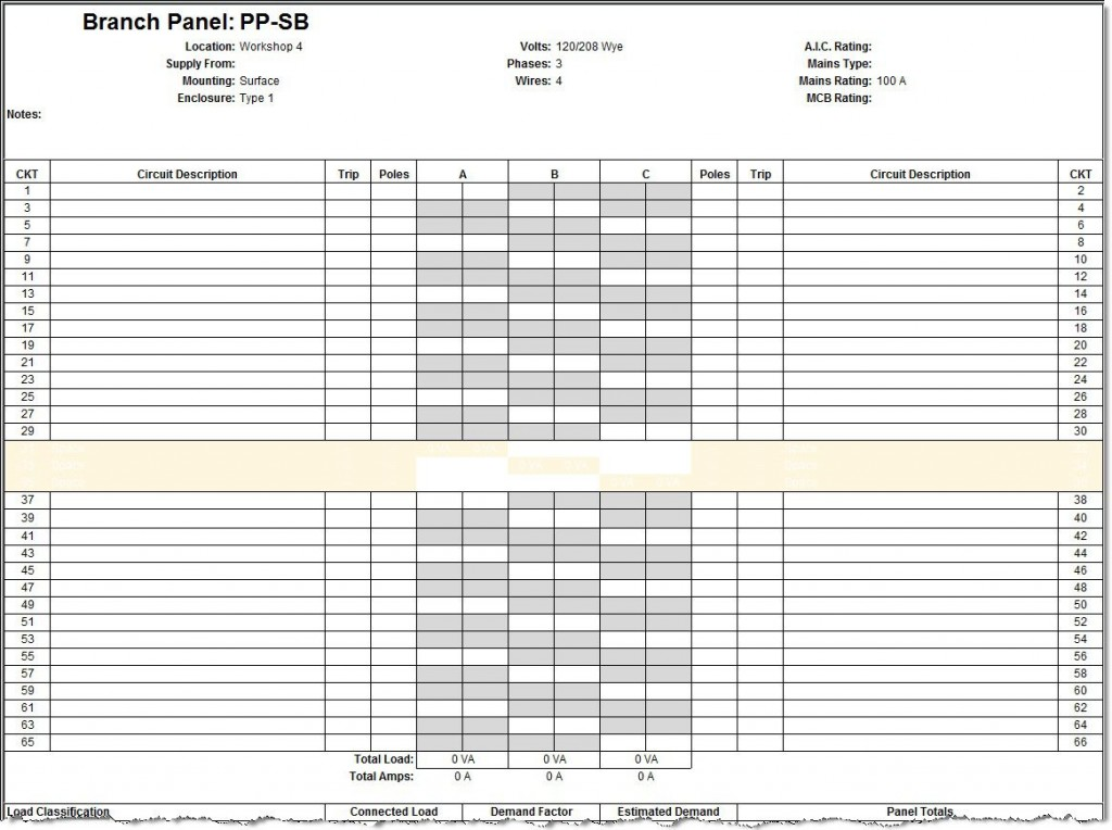 009 Amazing Electric Panel Schedule Template Sample  Electrical Excel Free Blank WordLarge