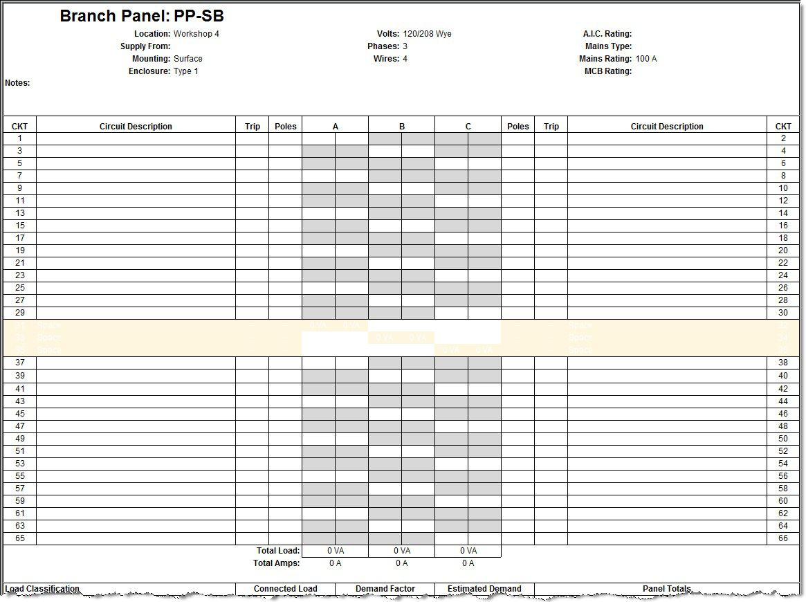 009 Amazing Electric Panel Schedule Template Sample  Electrical Excel Free Blank WordFull