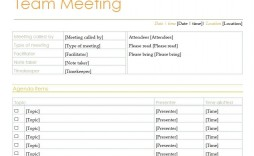 009 Amazing Formal Meeting Agenda Template Excel High Def