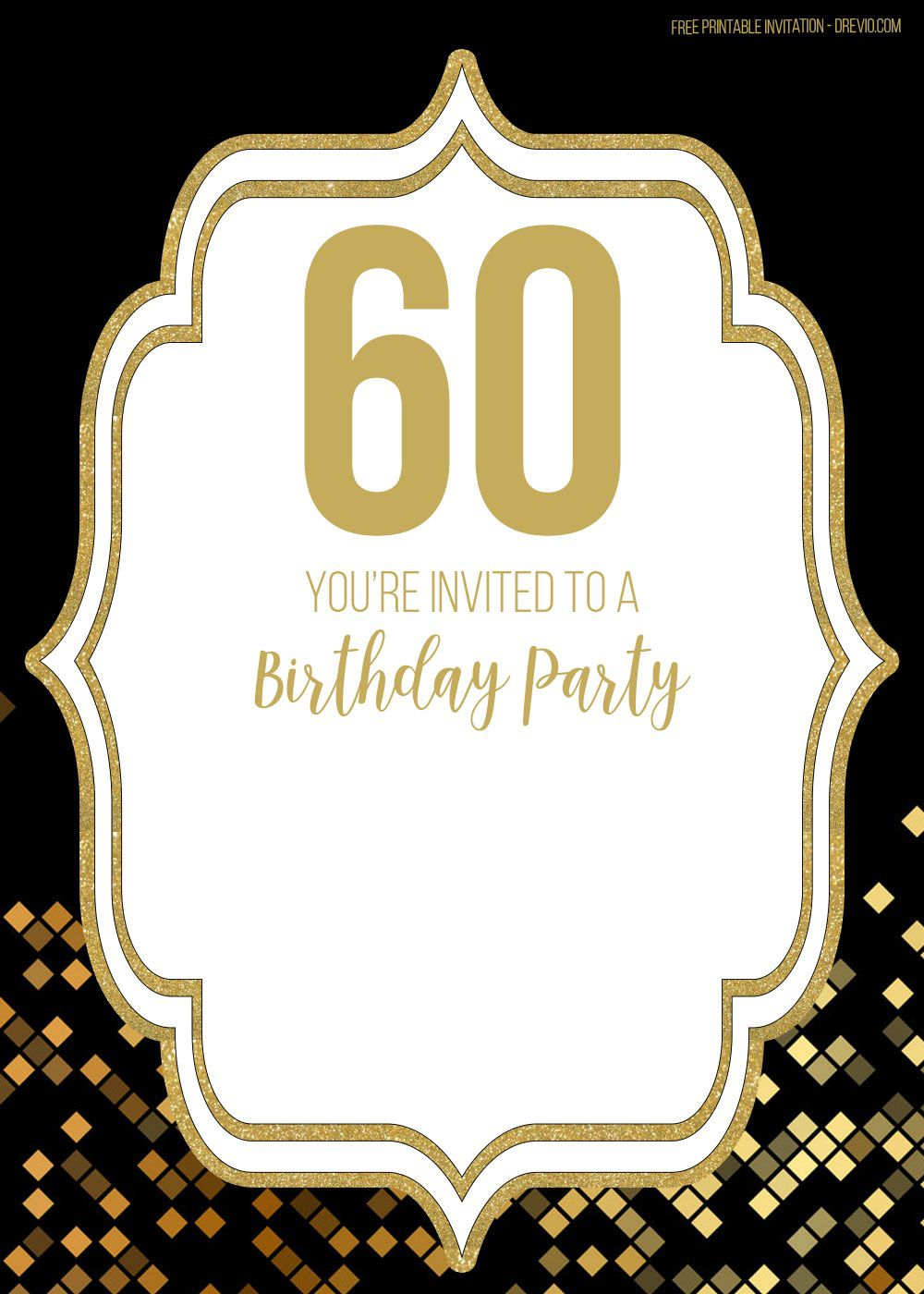 009 Amazing Free 60th Birthday Invitation Template High Resolution  Templates Surprise Download For Word PartyFull