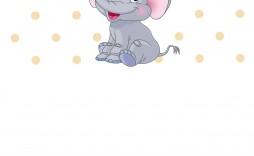 009 Amazing Free Printable Elephant Baby Shower Invitation Template Highest Clarity  Templates Editable