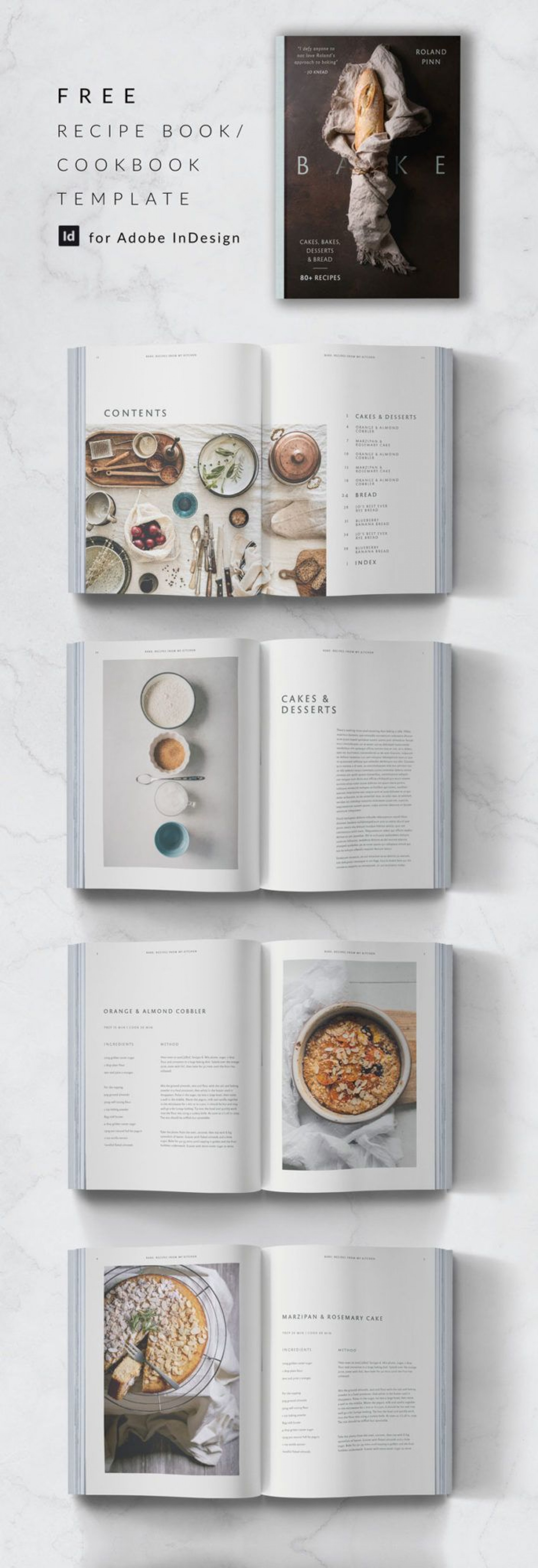 009 Amazing Free Recipe Book Template Concept  Editable Cookbook For Microsoft Word Indesign1920