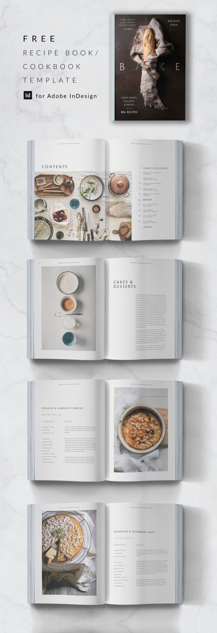 009 Amazing Free Recipe Book Template Concept  Editable Cookbook For Microsoft Word IndesignFull