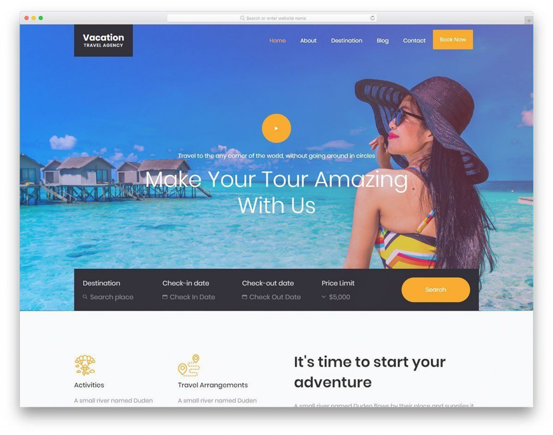 009 Amazing Free Website Template Download Html And Cs With Drop Down Menu Sample 1920