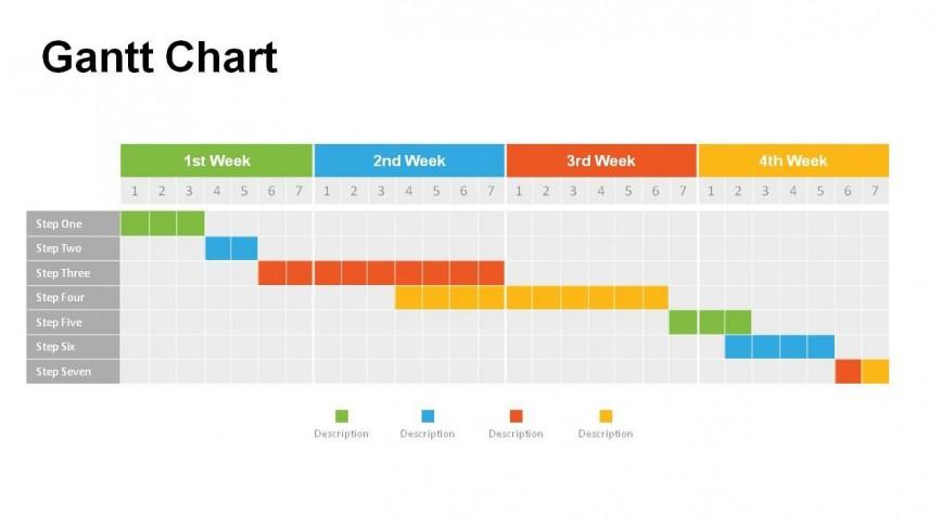 009 Amazing Gantt Chart Powerpoint Template Concept  Free Ppt
